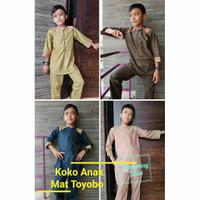 Set koko anak toyobo/baju muslim anak laki laki murah nyaman elegan