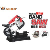 ALDO2103 portable miter bandsaw for metal mesin band saw besi portabel