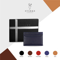 Starke Leather Nimble Pudu Card Holder Kulit Asli - Navy