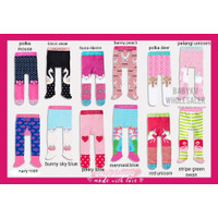 Legging bayi perempuan tutup kaki ada anti slip / Celana legging bayi