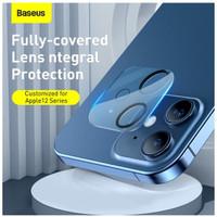 BASEUS RING CAMERA LENS TEMPERED GLASS FOR IPHONE 12 MINI FULL COVER