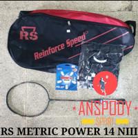 RAKET BADMINTON RS METRIC POWER 14 NIII BONUS KUMPLIT