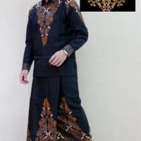 setelan sarung baju Koko Batik solo trendy