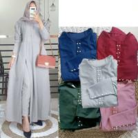Morha Set Grey [Gamis 0152] UBI Baju Gamis Wanita Terbaru