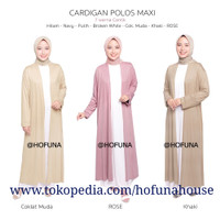 Cardigan Kaos/ Outer muslimah/ Baju Luaran/ Gamis/ Dress