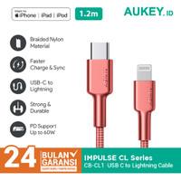 Aukey Braided Nylon MFi USB-C to Lightning Cable 1,2m - 500384