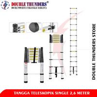 DT Tangga Lipat Aluminium Teleskopik 2,6M Single Ladder Telescopic