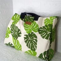 Shopping Bag Big Size/Tas Belanja Besar Kanvas Kekinian Go Green