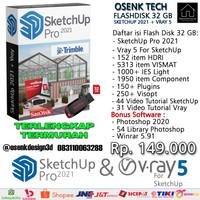 SKETCHUP 2021 + VRAY 5 SOFTWARE FLASH DISK SANDISK 32 GB