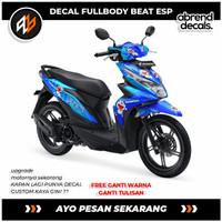 DECAL FULLBODY BEAT ESP DORAEMON/stiker motor beat tahun 2017 - 2019