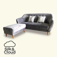 Silk&Cloud Citrus 3 Seat With Pouf - Abu