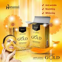 Masker Hanasui Gold    Anti Aging Peel Off Mask