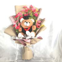 buket bunga boneka wisuda murah