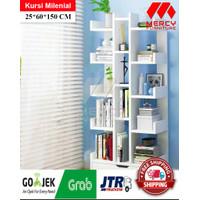 NARA Rak Buku Bookshelf Rak Multifungsi Minimalis - Putih
