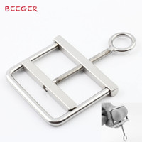 BEEGER Stainless Steel Locking Ball Crusher Cock & Testicle Crushing