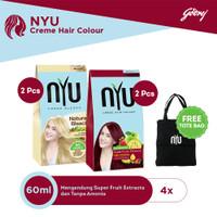 NYU Natural Bleach 2pcs & NYU Red Cherry 2pcs FREE Tote Bag