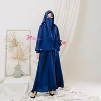 gamis wanita anna dress hijab syandana fashion muslimah - Hitam, M