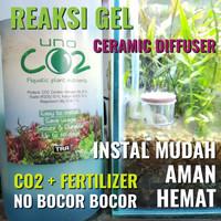 UNO CO2 gel CO2 + Fertilizer Aquascape Paket Lengkap