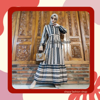 MAXI DRESS LUXURY AZURA / GAMIS WANITA MOTIF ETNIK KEKINIAN