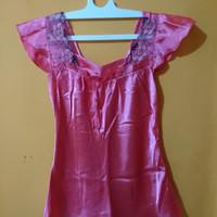 atasan baju tidur wanita warna pink