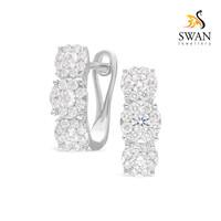 Anting Berlian trilogy IMER954877 Swan Jewellery