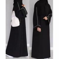 Gamis Dress Abaya Arab Saudi Tangan List pita