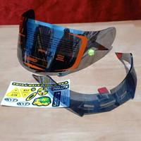 paket flat visor+ To post + spoiler+ sticker helm KYT Rc7 iridium
