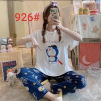Piyama CP Import Setelan Baju Tidur Wanita Remaja Dewasa Doraemon