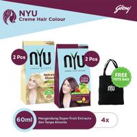 NYU Natural Bleach-2pcs & NYU Burgundy-2pcs FREE Tote Bag