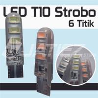 Lampu Led T10 Sen Sein Senja Jelly 6 Mata Kedip Strobo
