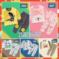 Piyama Anak Kekinian / Baju tidur Anak Import bahan premium 1-10tahun