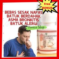 Cordy Capsules Cordyceps Green World Obat Paru TBC Asma Perokok dll