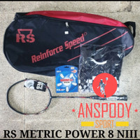 RAKET BADMINTON RS METRIC POWER 8 NIII BONUS KUMPLIT