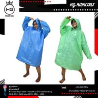 Jas Hujan Plastik LDPE Poncho Merk Bambu Tebal Murah