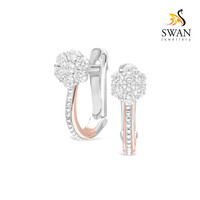 Anting Berlian Jepit Model Bunga IMER942720 Swan Jewellery