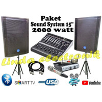paket sound system 15 inch audio seven hgx 2000 watt mixer ashley