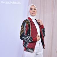 Jaket Etnik Manaka Tenun Ikat Dakara Indonesia