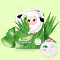 Puttisu Masker Wajah Anak - Real Fruits Sheet Mask Aloe Vera
