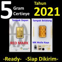 5 Gram Emas Batangan Logam Mulia LM Certieye Reinvented PT ANTAM Tbk