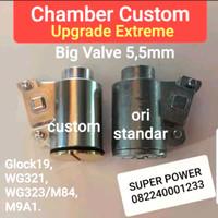 Chamber custom big valve set extreme bahan duralium