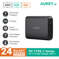 Aukey Charger PA-Y13 74.5W with PD 3.0, QC 3.0 & Aipower - 500303