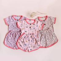 Setelan baju anak perempuan brand lokal LA.RE.KU Pinkish Playset