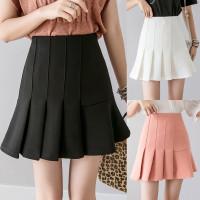 hitam putih polos rok wanita mini skirt korea import tennis golf