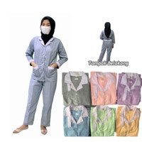 Baju Suster Tangan Panjang/Baby Sitter/Seragam Suster/Nanny