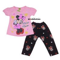 Setelan Mickey Mouse uk 2-3 Tahun / Baju Anak Karakter Perempuan
