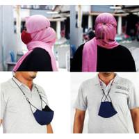 Tali Pengikat Masker Premium - Navy Blue, M