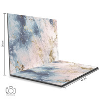 Alas Foto Lipat Marmer Pink & Biru 42x30 cm / Background Foto (ML-14)
