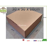 Kardus karton uk.30 x 30 x10 cm - Die Cut - Kotak kue / kue lapis/ dll