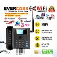 Telepon Telpon GSM WiFi Hotspot Untuk Rumah Kantor Dual Sim Card ON