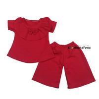 Set Kylie Anak uk 1-4 Tahun / Setelan Atasan celana Kulot Perempuan